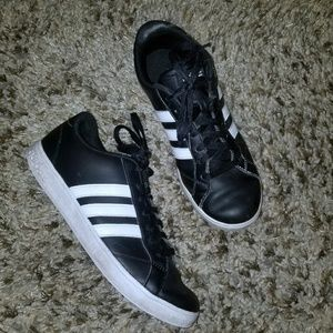 Adidas Black and White Original 3 Foil Sneakers
